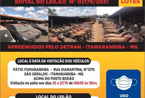6° Leilão de Veículos em Itamarandiba